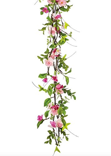 Amazon Sullivans Sul Pink Cherry Blossom Silk Flower Garland