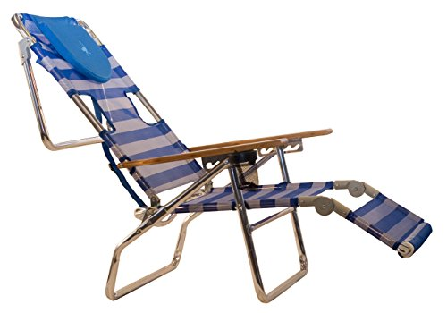 Lounger Teak Chaise Adjustable (Ostrich 3-in-1 Chair, Striped)