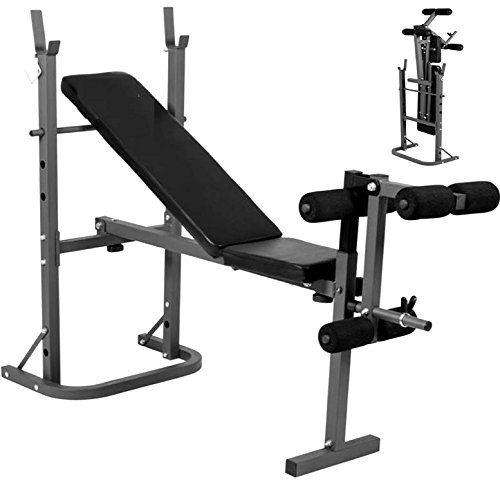 Progen - Banco de musculación y abdominales multiusosEste banco de musculación ajustable es lo último en aparatos de entrenamiento para el hogar.