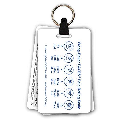 5 Card Pediatric Keychain Badge Pocket Card Reference Set for Nurse Medic (Vital Signs Badge Cards)