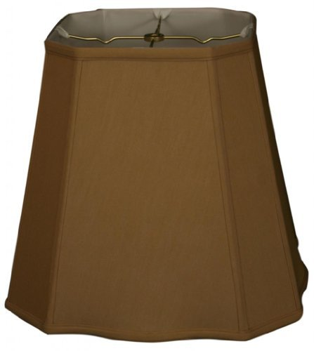Royal Designs Fancy Square Cut Corner Basic Lamp Shade, Antique Gold, 9.5 x 15 x 13 by Royal Designs, Inc