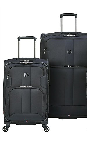 delsey luggage sky max 2 piece nested luggage set black buy online in uae apparel products. Black Bedroom Furniture Sets. Home Design Ideas