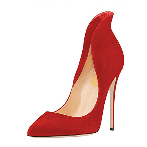 buy cheap new FSJ Women Sexy Prom Pumps Pointy Toe High Heels Dress Shoes Stilettos Size 4-15 US Red cheap sale 100% guaranteed cheap huge surprise u3Z1f5