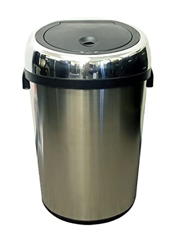 itouchless commercial size stainless steel trashcan 23 gallon 85 liter