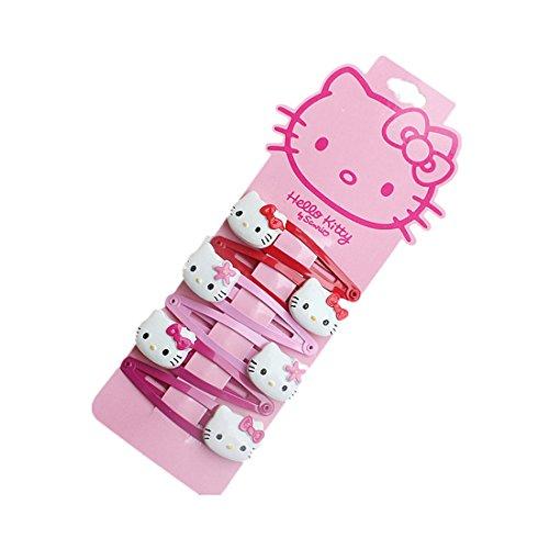 NoMo Kou Hello Kitty Children's Hair Clips (three pairs) (Three color2)]()