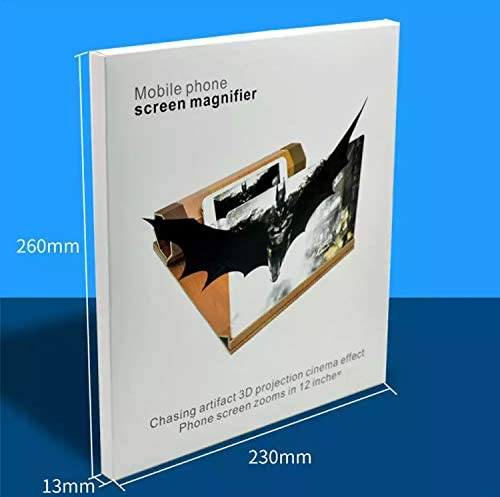 Gaming Videos 12 HD Mobile Phone Screen Magnifier Amplifier Projector Screen for Movies Screen Magnifier Foldable Cell Phone Stand Compatible with All Smartphones.