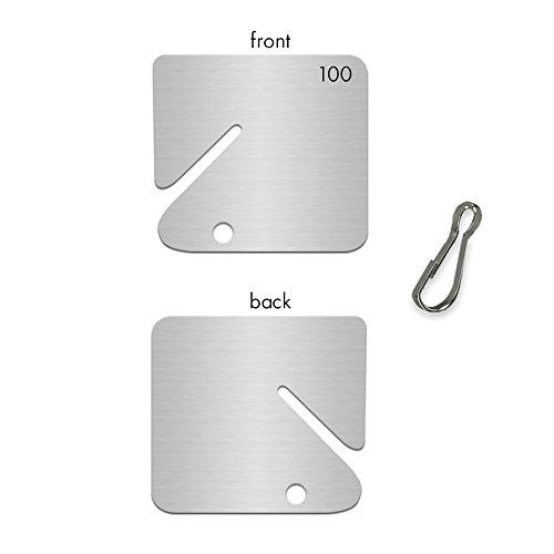 Hooks Numbered 100 (Numbered Slotted Aluminum Tags 1 - 100)