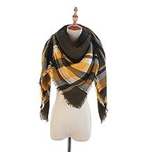 Lightweight Scarf Soft Fashion Warm Plaid Shawl Cape Blanket Scarves (C)