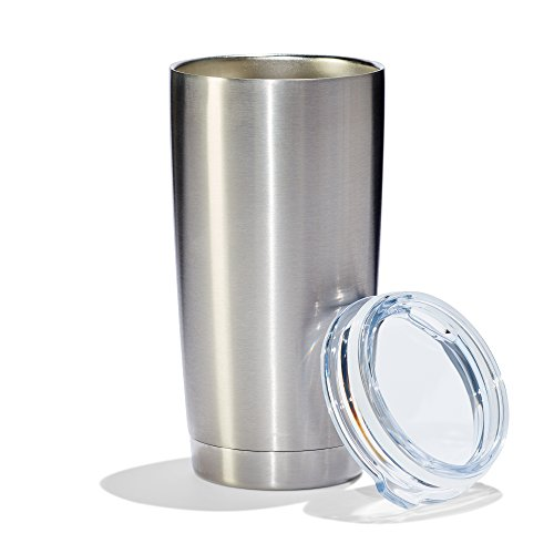 Basule Stainless Steel Tumbler (20 Oz.) | Double-Walled, Vacuum-Insulated Portable Beverage Container | Preserves Beverages at Desired Temperatures | Durable and Spill-Proof