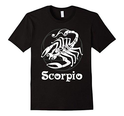 Scorpion Symbol - Mens Zodiac Scorpio T-shirt Scorpion Symbol Shirt Tee 3XL Black