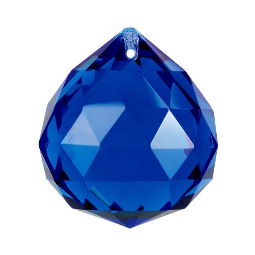 crystal ball prism cobalt blue amazon co uk kitchen home