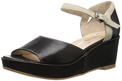 Wedge Fidji Sandal Black V640 ivory Women z0qF6wH