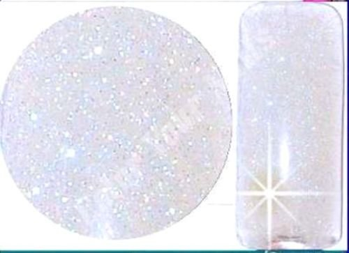 Acrylpuder GLITTER WHITE 5g für Bling Bling-French Spitzen. Color Your Nails