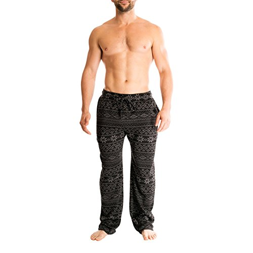 Bottoms Out Men's Designer Comfortable Unique Sweater Fleece Pajama Sleep Lounge PJ Pants for (Out Lounge Pants)