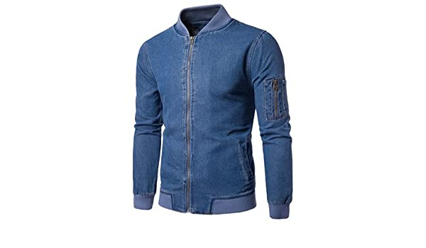 Amazon.com: Taylor Heart New design Casual Slim Mens Denim Jacket Brand Mens Zipper Bomber Jacket Men Cowboy Mens Jean Jacket Chaqueta Hombre B4284 Blue ...
