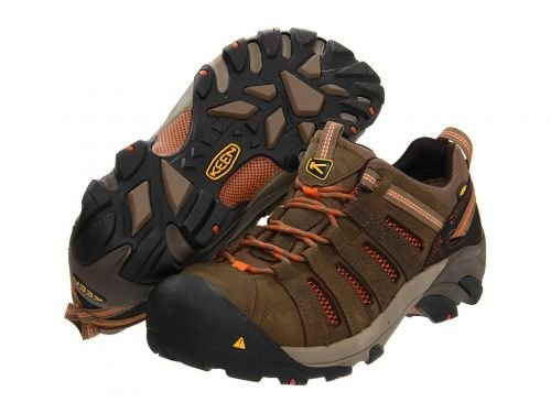Keen Utility(キーン) メンズ 男性用 シューズ 靴 スニーカー 運動靴 Flint Low Shitake/Rust [並行輸入品] B07BMCNVLT 10.5 EE Wide
