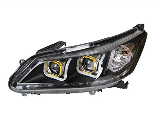 GOWE Car Styling Head Lamp for Honda Accord Headlight 2013 New Accord LED Headlight DRL H7 D2H Hid Option Angel Eye Bi Xenon Color Temperature:8000K Wattage:55W 0