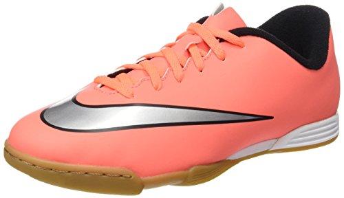 Nike Jr Mercurial Vortex II IC - Zapatillas de Deporte, Niñas Coral / Plateado (Brght Mng / Mtllc Slvr-Hypr Trq)