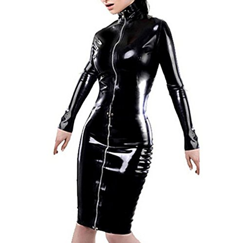 Robes Clubbing Femme Wetlook BEAUTY en WONDER Bodycon Midi lgant Cuir Soir Robe PVC 7Pqgnpwx