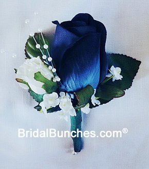 Amazon.com : Navy Blue Rose Boutonniere Wedding Or Prom Flowers ...