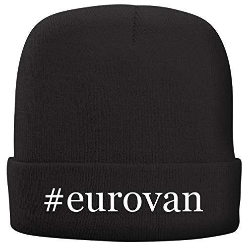 BH Cool Designs #Eurovan - Adult Hashtag Comfortable Fleece Lined Beanie, Black ()
