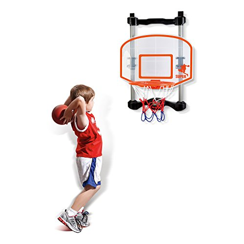 SainSmart Jr. Hoop Kids Electronic Basketball Games for Door Indoor Score Toddler, Office and Room (Electronic Basketball Hoops)