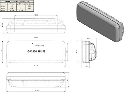 - NavPod GP2300 InstrumentPod Un-Cut (usable face = 15.3