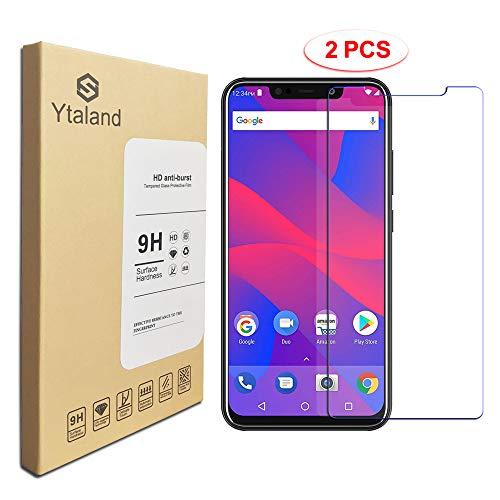 [2 Pack] Ytaland for BLU Vivo XL4 Screen Protector, Tempered Glass Anti-Fingerprints Thin 9H Screen Hardness Screen Protector for BLU Vivo XL4