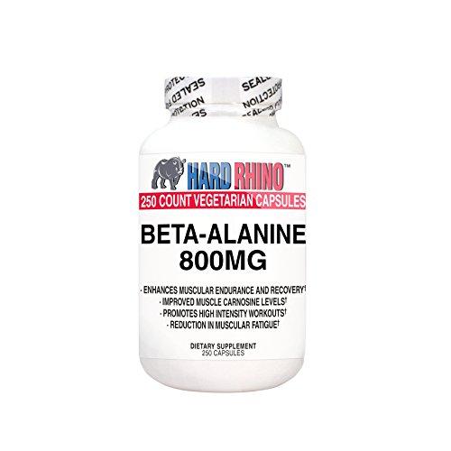 Gélules de 800mg de bêta-Alanine (250 Capsules de Cellulose végétarien)