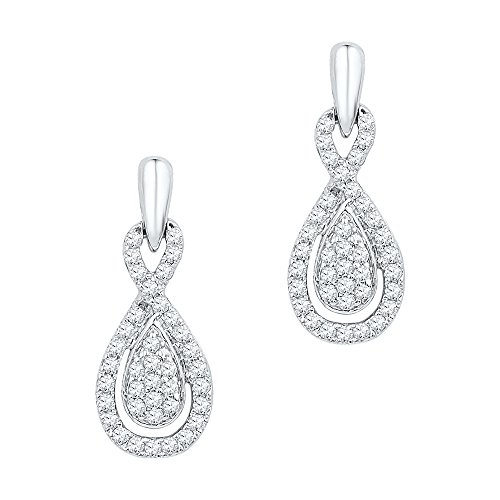 1/3 Total Carat Weight DIAMOND FASHION EARRING by DazzlingRock Collection