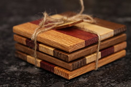 Set of Natural Wood Coasters (Purpleheart) by Colors Of The Wood (Image #1)