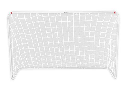 Portable Soccer Net & Carrying Case - 6 foot by 4 foot Junior Soccer Goal For Kids (White Goal Net)