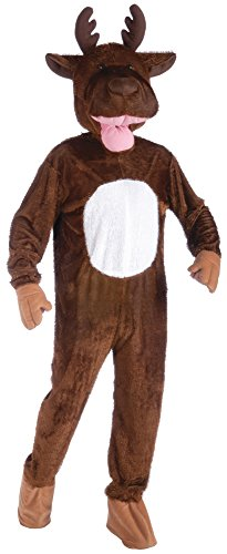 Forum Novelties Men's Moose Mascot Costume, Brown, One Size -