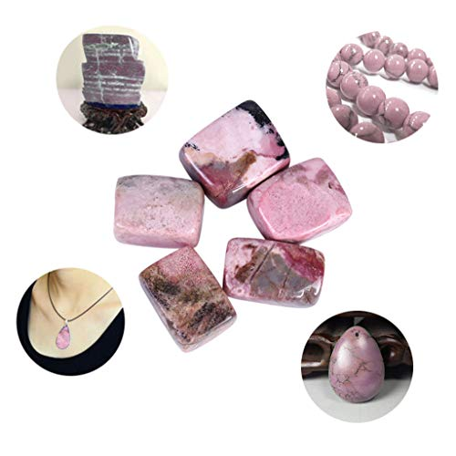 Glumes 100g Rose Stones, Crystals Gravel Quartz Tumbled Stone Pink Pebble Irregular Shaped Stones for Jewelry Making Points Stone