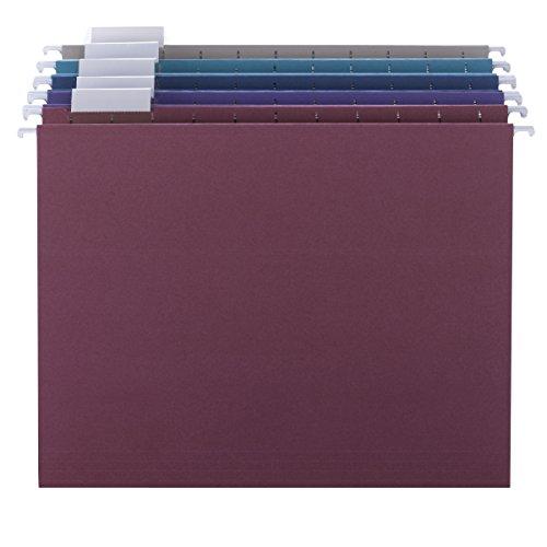 Designer Colored Hanging File Folders (Smead 64056 Designer Assortment Hanging Folders, 1/5 Tab, 11 Point Stock, Letter (Box of 25))