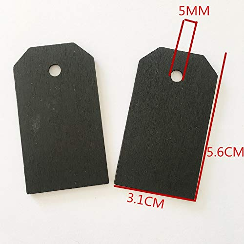 Wooden Garment Tags with Hemp Rope Decorative Handmade Clothing Bags Tag Labels Clothes Accessories