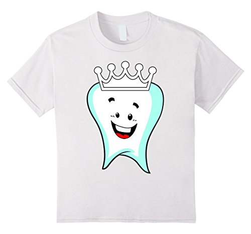 Children's Tooth Fairy Costume (Kids Tooth Fairy Cute Halloween Costume T-Shirt loose teeth molar 12 White)