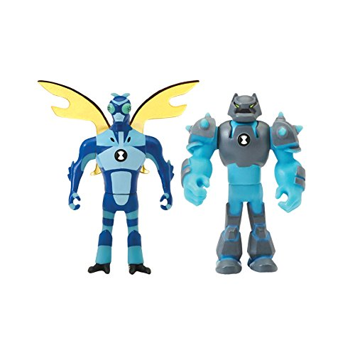 (Ben 10 Alien Creation Figures 2 Pack (Shock Rock,)
