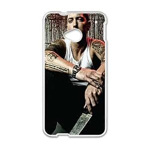 Rapper Eminem HTC One M7 Cell Phone Case White phone component AU_484745