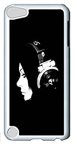 iPod Touch 5 Cases & Covers - Girl Listening To Music Custom PC Soft Case Cover Protector for iPod Touch 5 - White
