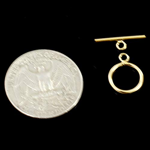 14Kt Yellow Gold Filled Stamped 14/20 Fancy Toggle Clasp Jewelry Finding 9-15mm (11mm)