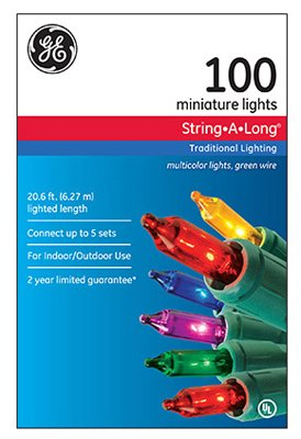 GE miniature String 100 Light MultiColor