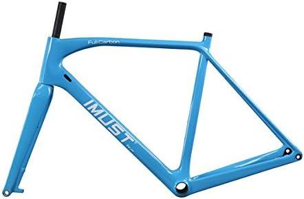 IMUST Carbono ciclocross Bicicleta Soporte de Pantalla Plana Disco Marco 12 x 142 mm BB86/Di2 & Soporte de Horquilla 15 x 100 mm 49/51/53/55/57/60 cm: Amazon.es: Deportes y aire libre
