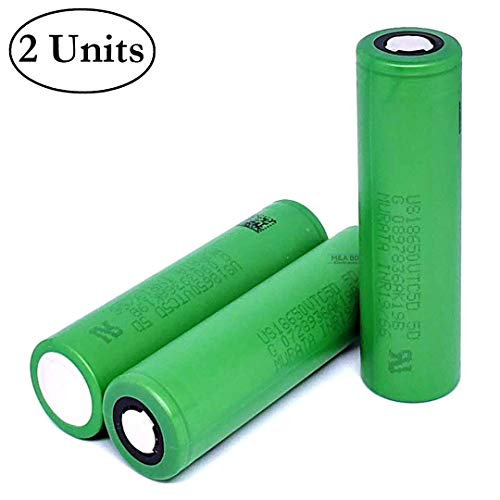 2-Pack Authentic VTC5D 2800mAh 35A Rechargeable Murata Li-ion 3.7V Battery Flat Top for Electric Tools, Toys, LED Flashlights, Torch, and Etc