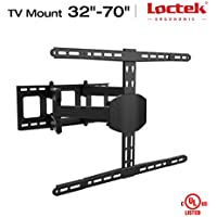 Loctek TV Wall Mount LCD Monitor Articulating Arm Full Motion Tilt Swivel and Rotate for Most 32 37 40 42 50 55 60 65 70 LED TV Flat Panel Screen with VESA 400x600