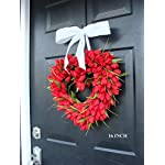 Elegant-Holidays-Handmade-Red-Tulip-Heart-Shaped-Wreath-with-Bow-Valentines-Day-Wreath-Front-DoorDecor-for-Outdoor-Indoor-Home-Wall-Accent-Dcor-Great-for-Valentines-Day-All-Seasons-Year-Round