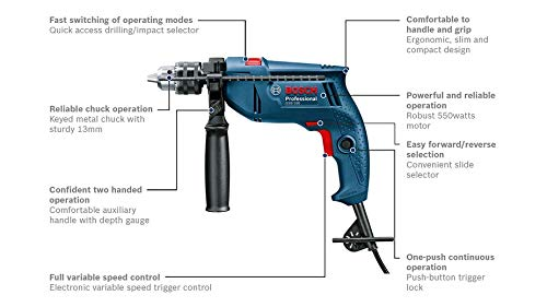 Bosch GSB 550 Mechanic Kit Professional 6