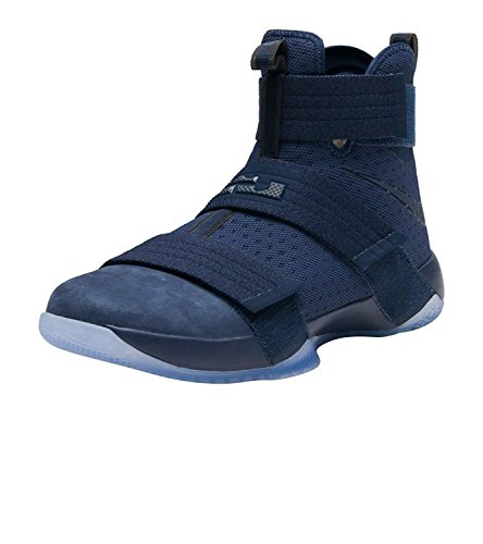 Nike Lebron Soldier 10 Mens Basketball Shoes, Azul Medianoche/Juego Rey/Azul Medianoche, 45 D(M) EU/10 D(M) UK