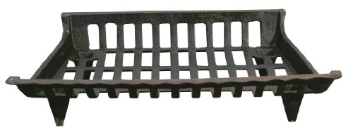 Panacea 15424 Cast Iron Fire Grate, Black, 24-Inch (Outdoor Fireplace Grates)