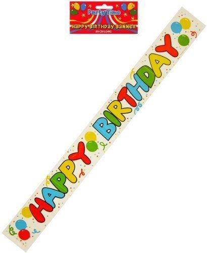 Pancarta de feliz cumpleaños con globo de escritura y ...